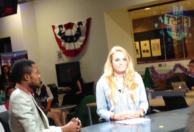 scene in newsroom