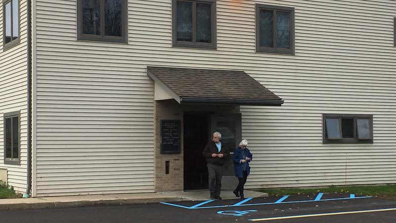 Dimondale voters exiting the polls photo