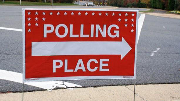 polling site sign