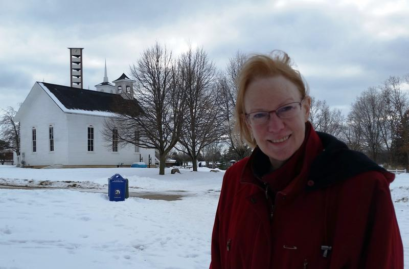 Jane Rose and historic church