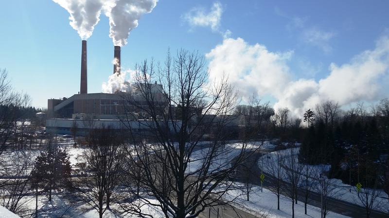 MSU power plant in winter