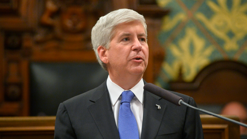 Snyder at lectern