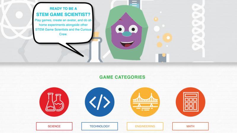 STEM Game Crew website page