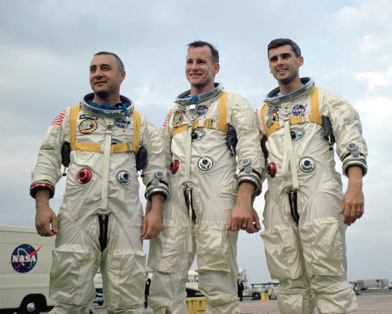 three astronauts at NASA