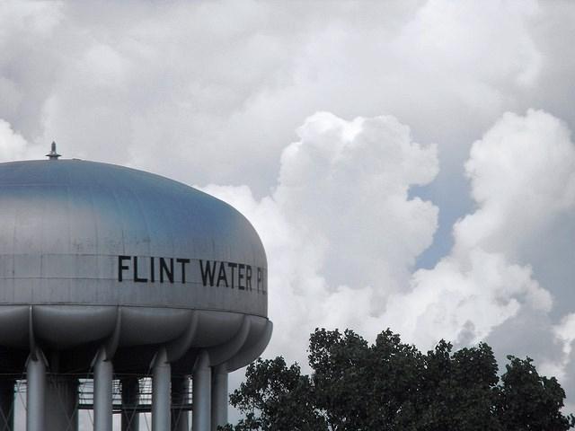 Flint water tower