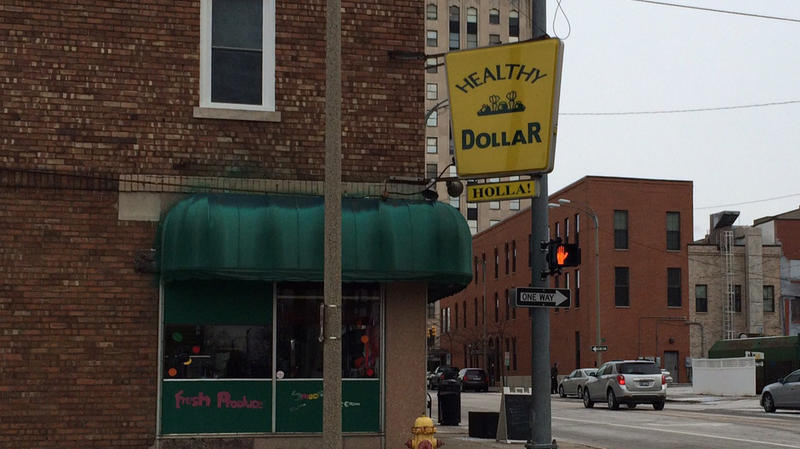 Kathy Jackson's Healthy Dollar store in downtown Flint