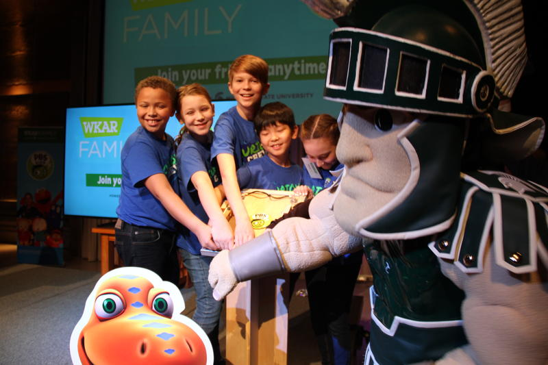 Sparty and friends flip the swtich to launch WKAR PBS KIDS 24/7