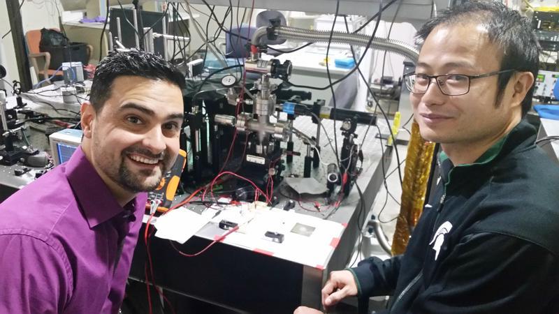 scientists in lab at MSU