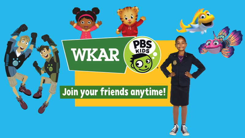 WKAR Family/PBS Kids channel with characters