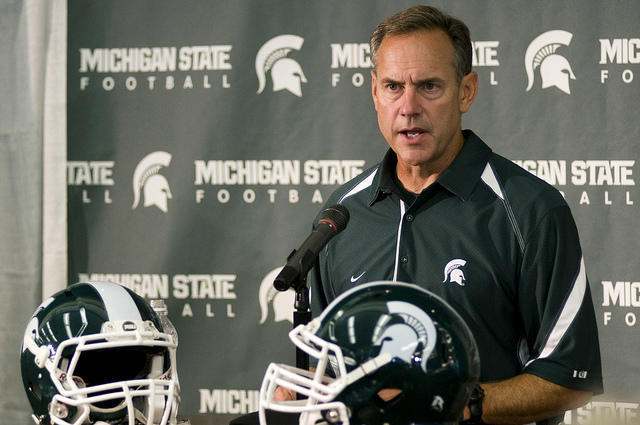 Mark Dantonio at podium