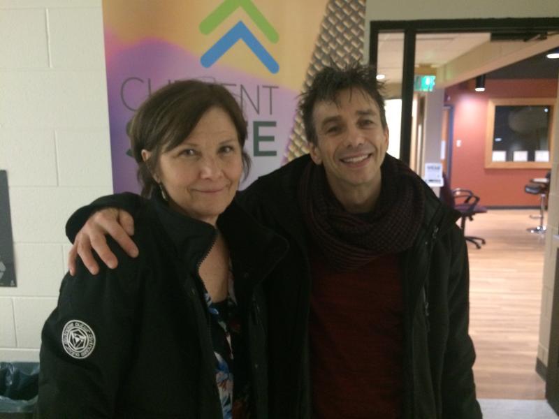 Cabaret's Mary Gordon Murray and Jon Peterson visiting the WKAR studios