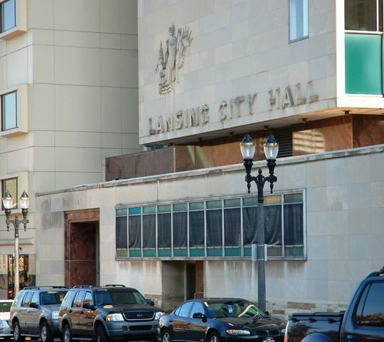 Front of Lansing city hall