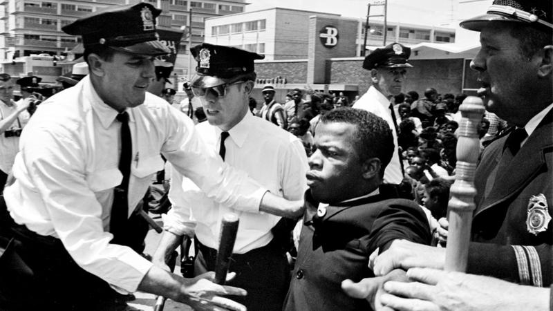 John Lewis and police in Nashville, 1961.