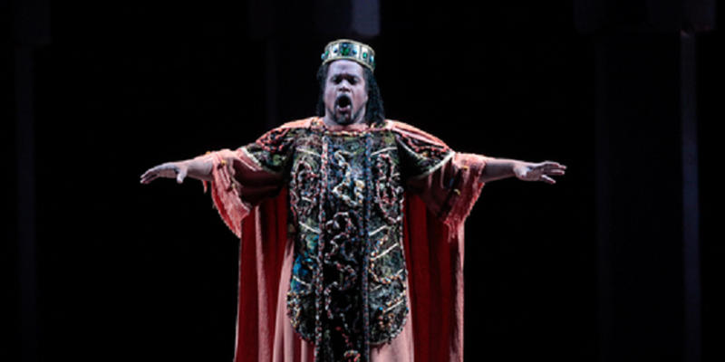 New MSU College of Music Professor Mark Rucker as Verdi's Nabucco