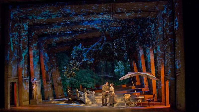 A scene from Massenet's Werther. Photo by Ken Howard/Metropolitan Opera.