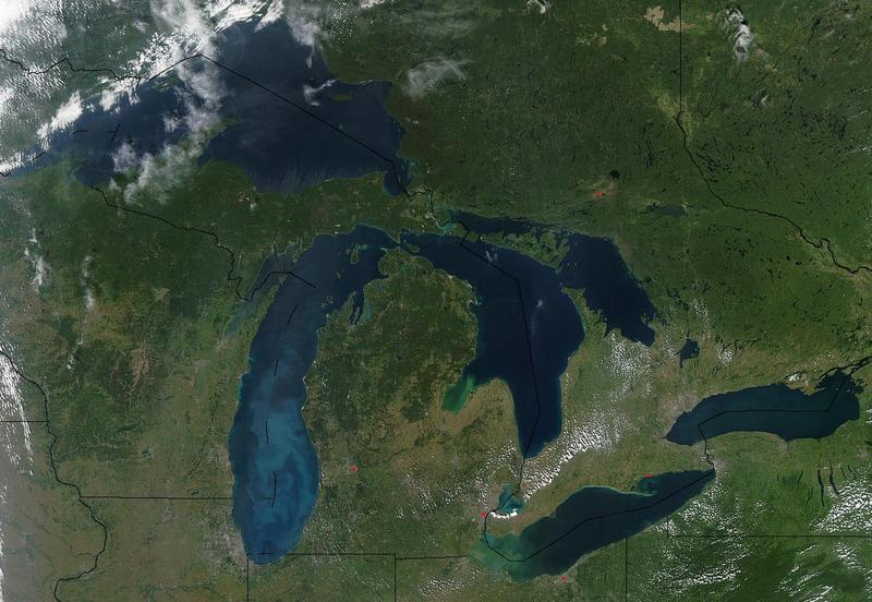 View of Great Lakes from space