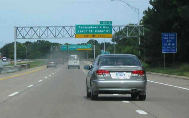 Cars on Lansing area highway