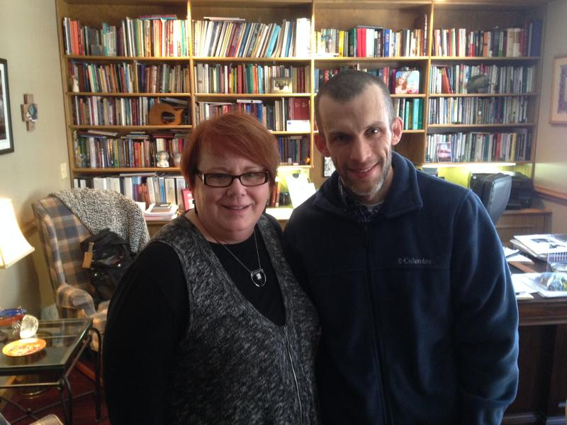 The Rev. Karen C. Lewis, Rector, St. Paul's Episcopal Church with parishioner Joe Lehning