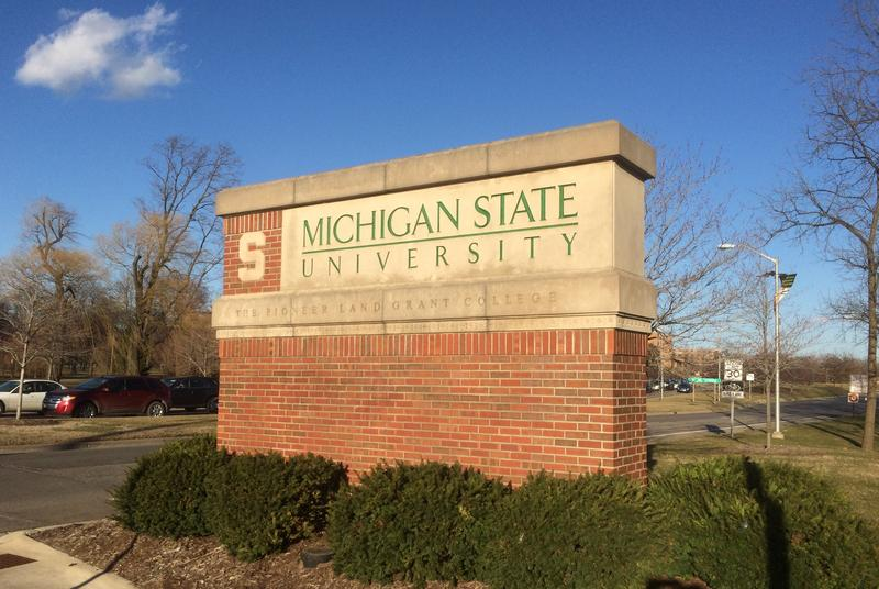 Michigan State University outdoor sign