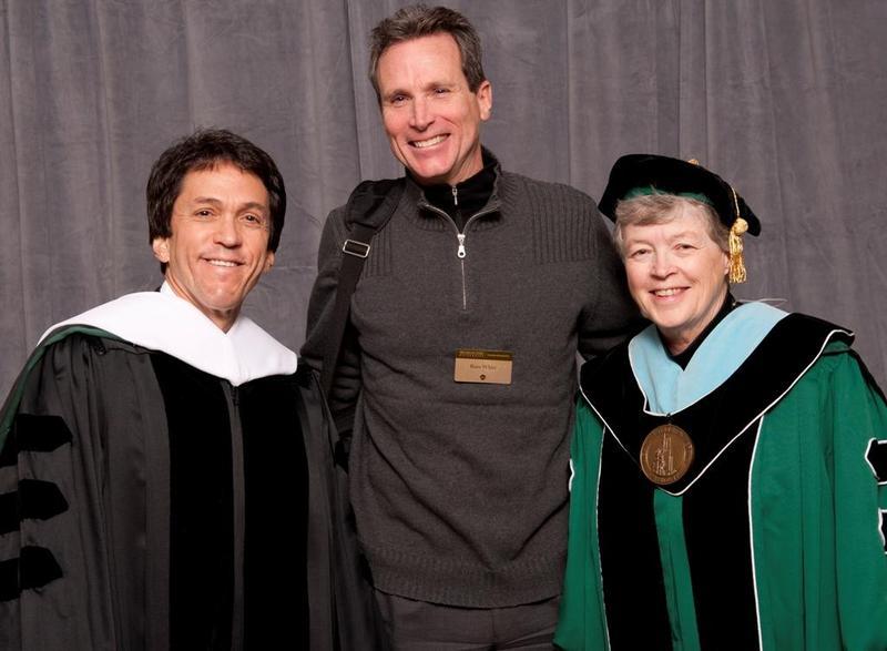 Mitch Albom, Russ White, Lou Anna K. Simon