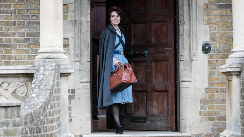 Call the Midwife: Valerie Dwyer on stairs