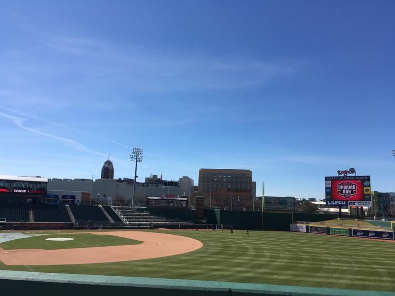 Cooley Law School Stadium on April 8, 2017