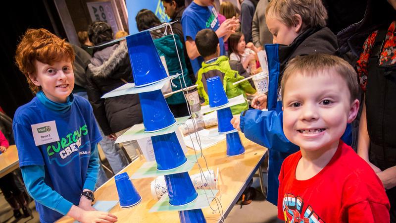 Kids with science activities