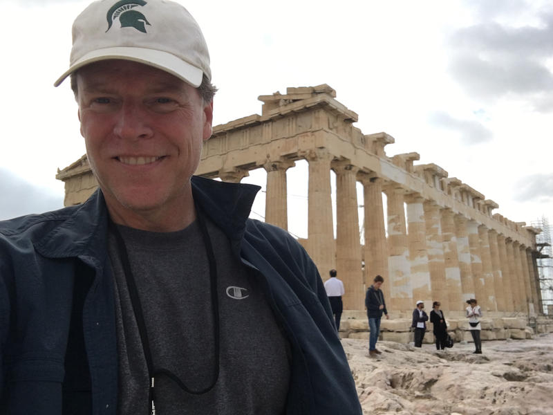 MSU's Jim Peck at the Acropolis of Athens