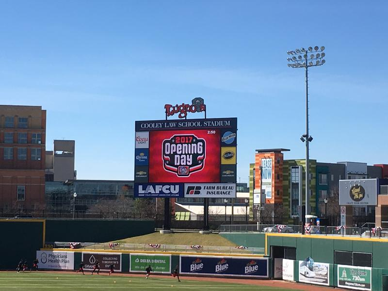 Cooley Law School Stadium on Opening Day, April 8, 2017