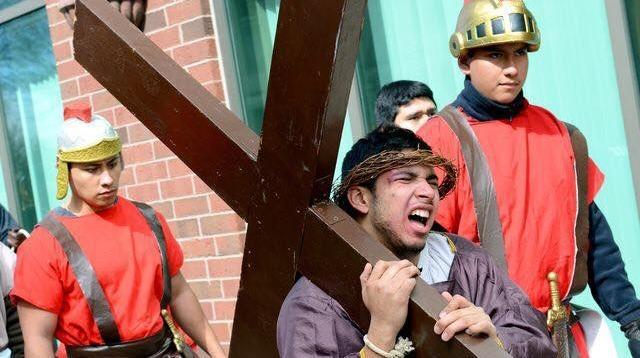 Friday will mark Jose Gallo's seventh portrayal of Jesus in the Cristo Rey re-enactment of the Stations of the Cross.