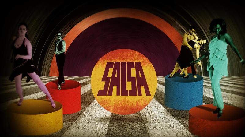 Latin Music USA: salsa title image with dancers