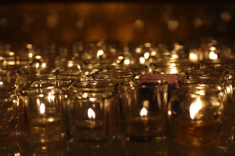 A group of candles.