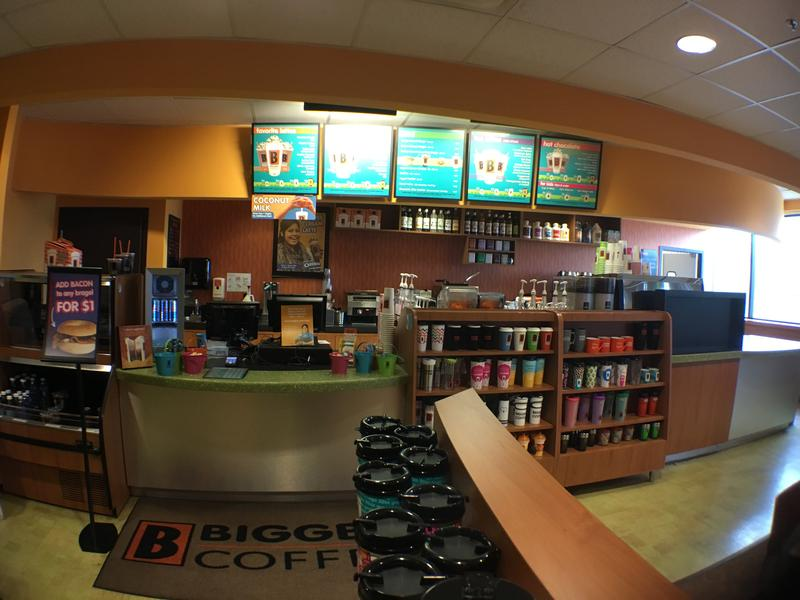 Full service Biggby Coffee store is used at headquarters for training.