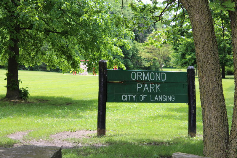 View of Ormond Park from the Groesbeck Golf Course parking lot.