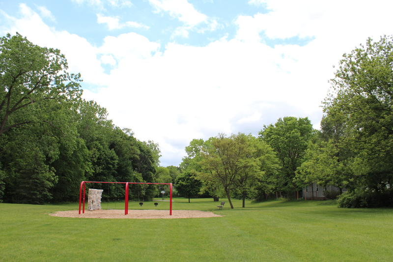 Ormond Park swingset and basketball court