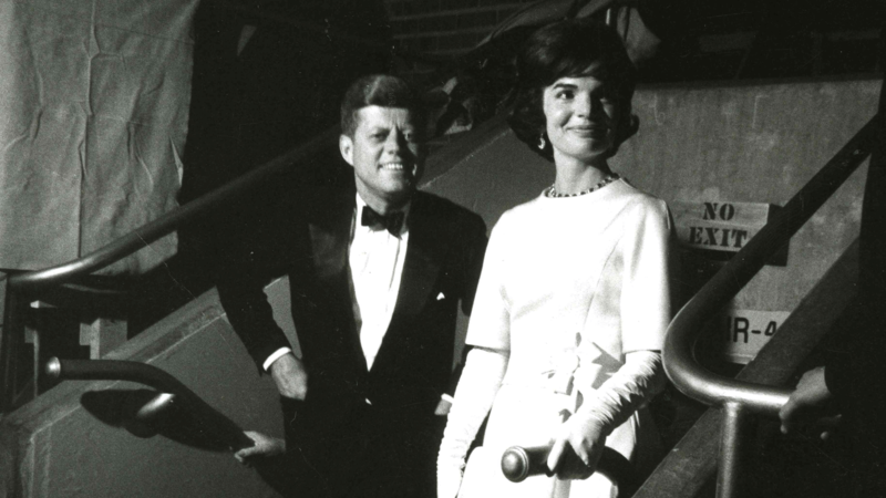 JFK and First Lady at the pre-inaugural gala