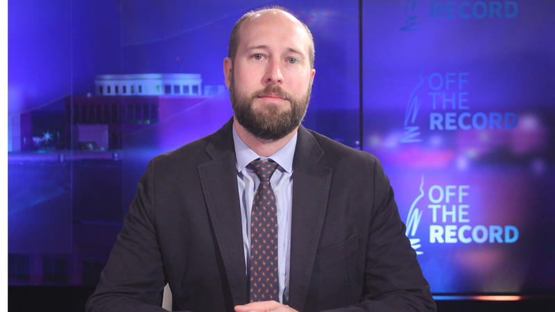 Political Consultant Josh Hovey, appearing on Off the Record with Tim Skubick.