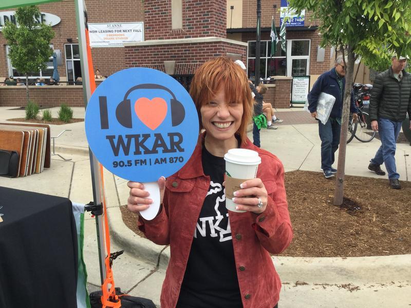 "WKAR ""Morning Edition"" host Brooke Allen at East Lansing Art Festival."