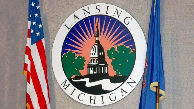 city seal with flags