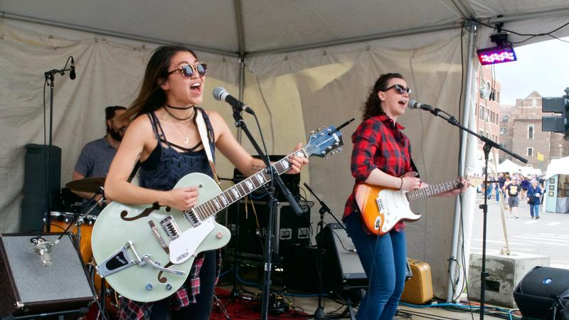 "Michigan Indie Group ""The Crane Wives"" performed at East Lansing Arts Festival."