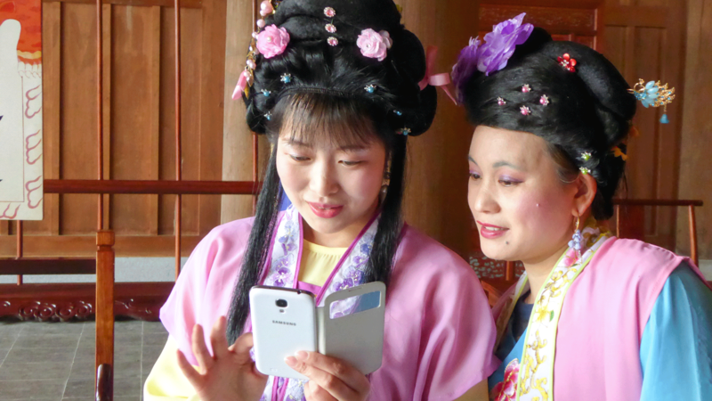 Two female actors
