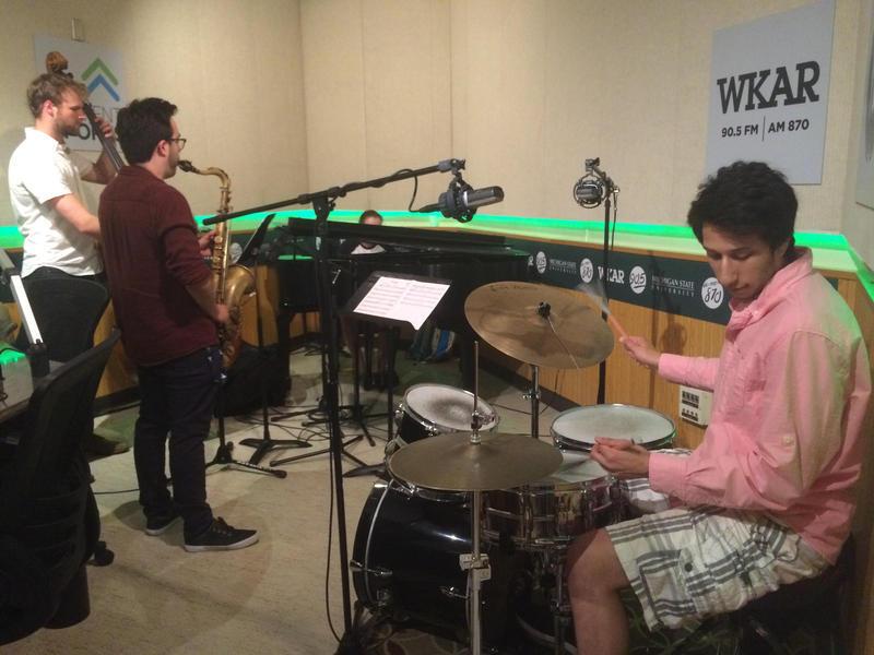 The Zach Adleman Quartet in the WKAR studios