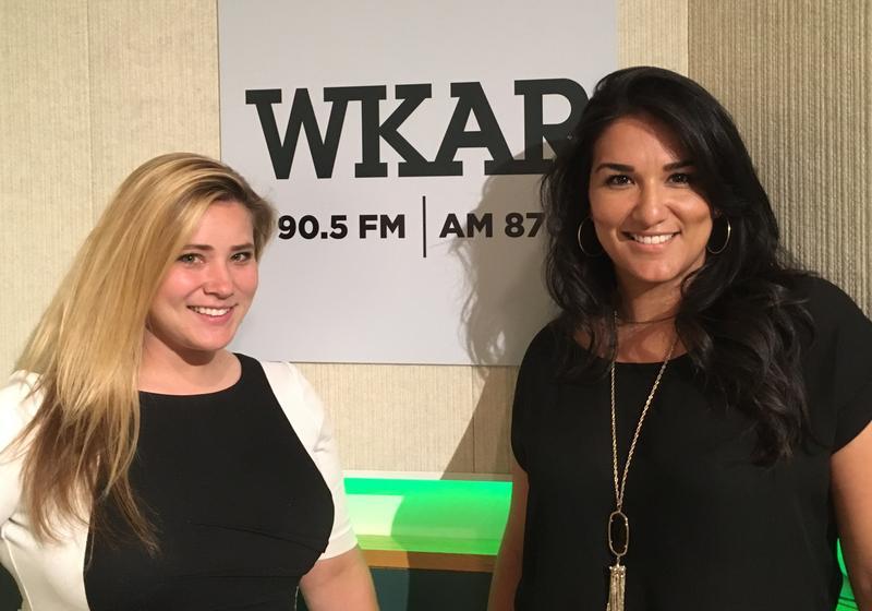 Cheri Garcia (left) and Susy Solis (right) of Cornbread Hustle in the WKAR Studios.