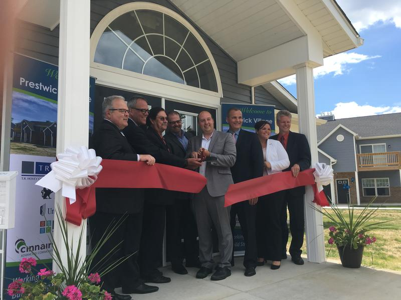 Ribbon cutting of Prestwick Village Apartments on June 27, 2017.
