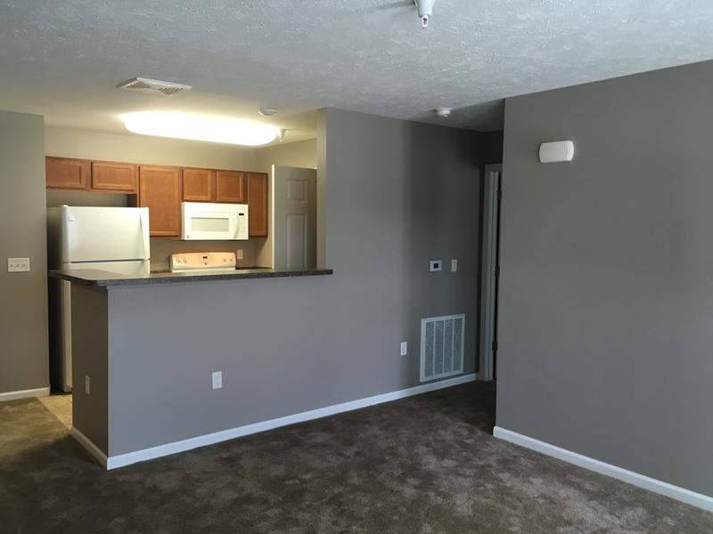 Kitchen/Dining area of a Prestwick Village Apartment unit.