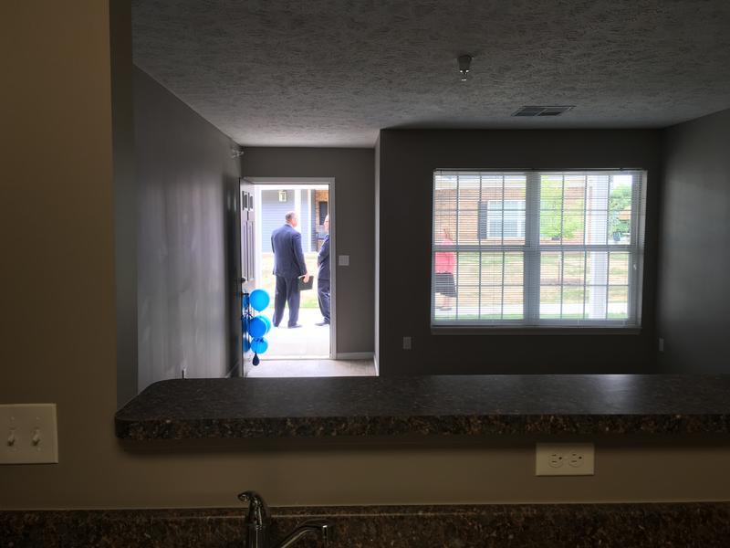 Entry/Living room of a Prestwick Village Apartment unit