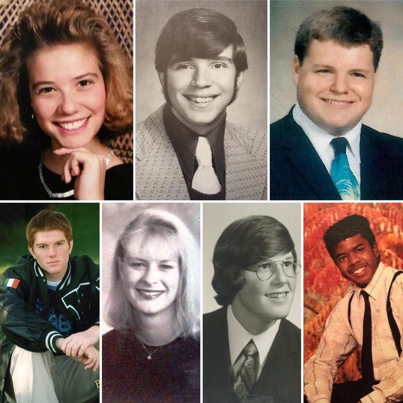 HS Senior Class photos: Top Row: WKAR's Brooke Allen, Scott Pohl & Jamie Paisley. Second row: WKAR's Brian James, Melissa Nay, Tim Zeko & Reginald Hardwick.