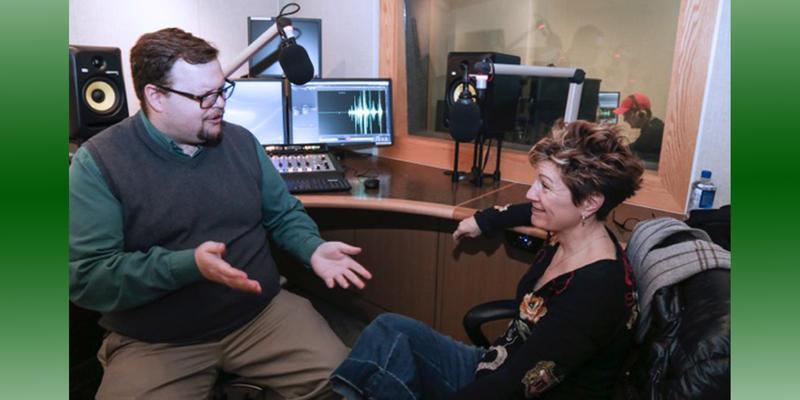 WKAR's Jamie Paisley and Fun Home co-author Lisa Kron