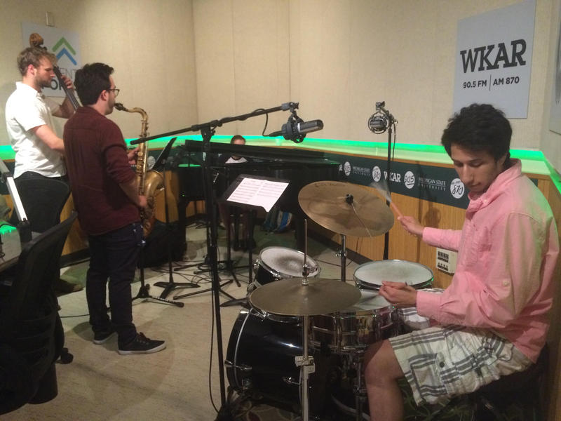 TheThe Zach Adleman Quartet performing at WKAR.