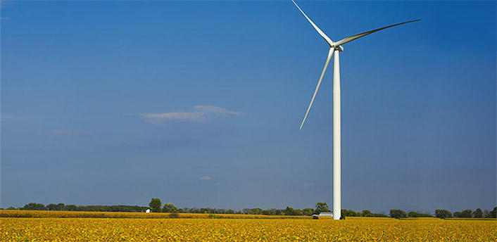 Wind turbine from Consumers Energy website